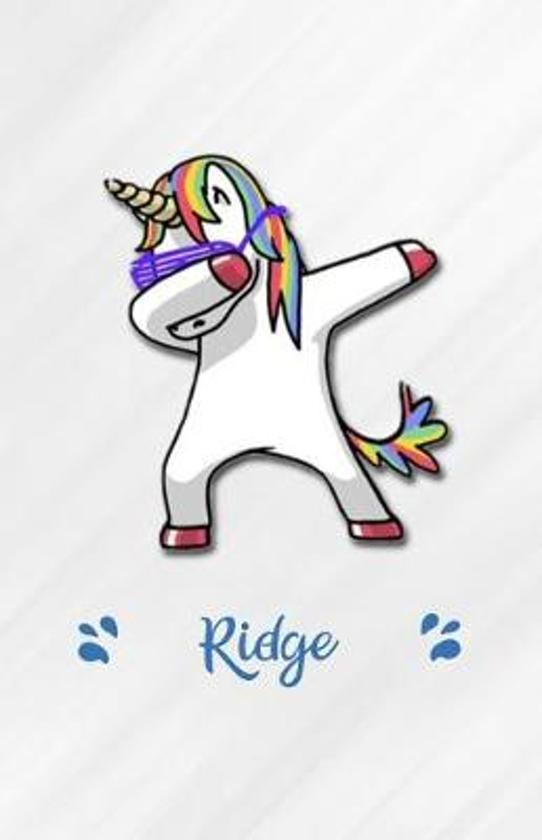 Ridge A5 Lined Notebook 110 Pages: Funny Blank Journal For Personalized Dabbing Unicorn Family First Name Middle Last. Unique Student Teacher Scrapboo