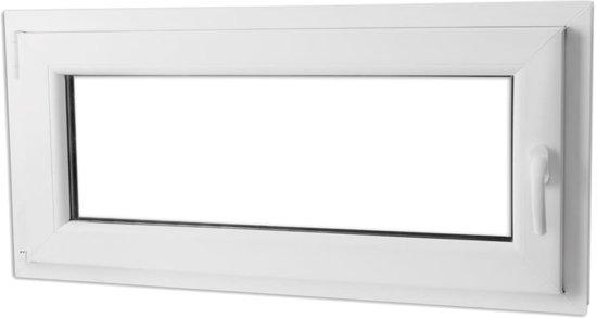 vidaXL PVC raam met dubbel glas en handvat rechts 1100 x 500 mm