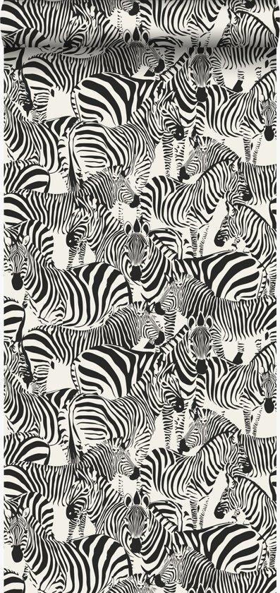 Zebra Print Behang.Origin Behang Zebra S Zwart En Wit 347453