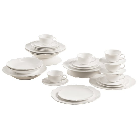 Maxwell & Williams White Rose Koffie & Dinerset 30-delig