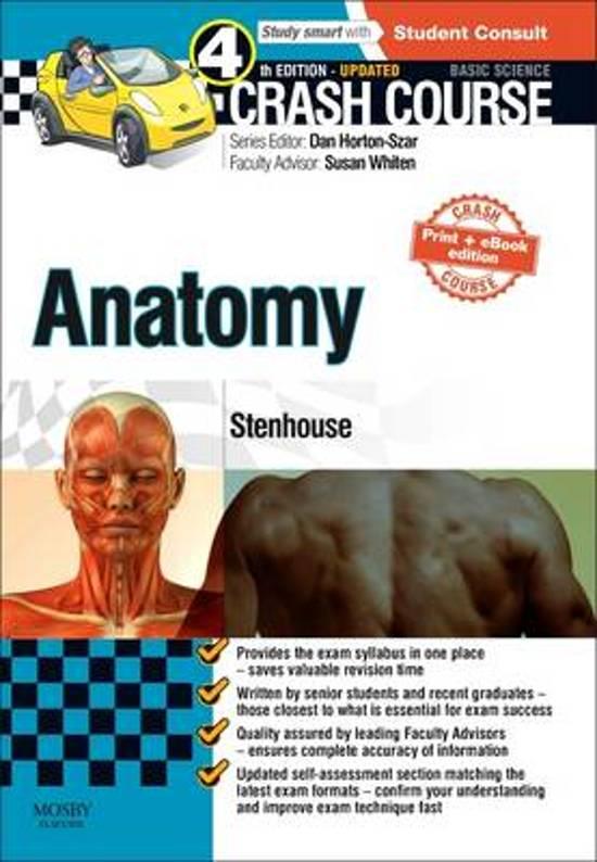 bol.com | Crash Course Anatomy Updated Print + eBook edition ...