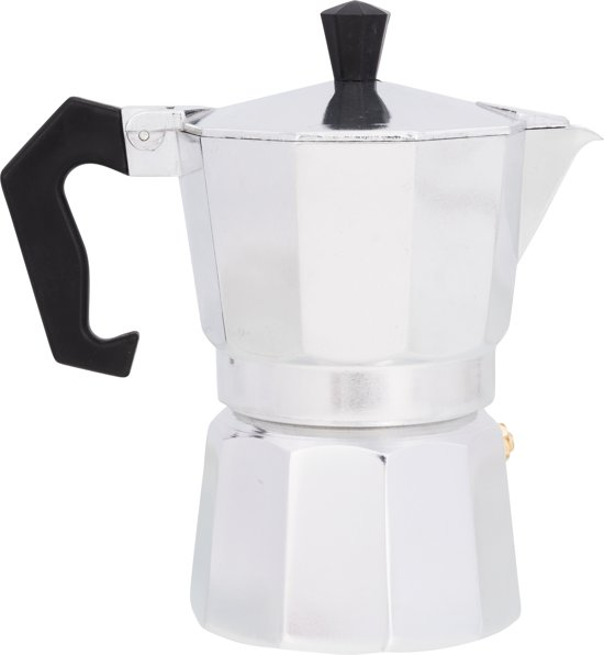 Kitchen Basics Espressomaker - aluminium - 3 kops