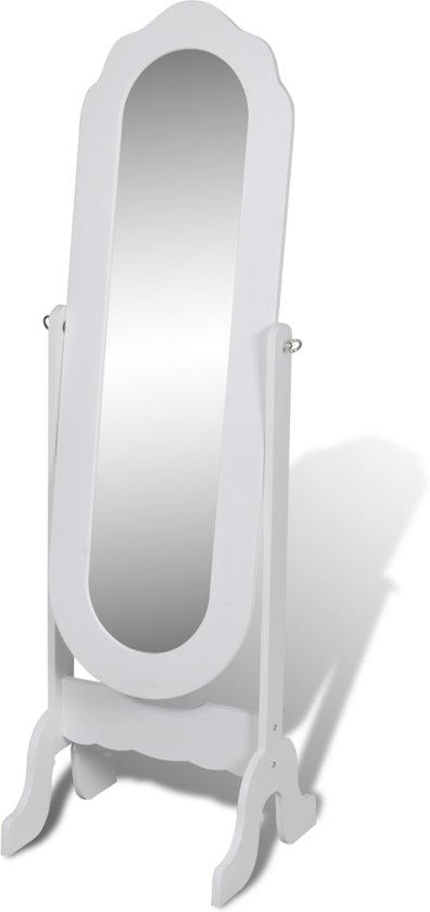 Vidaxl staande spiegel vrijstaande kantelbare for Staande spiegel hout