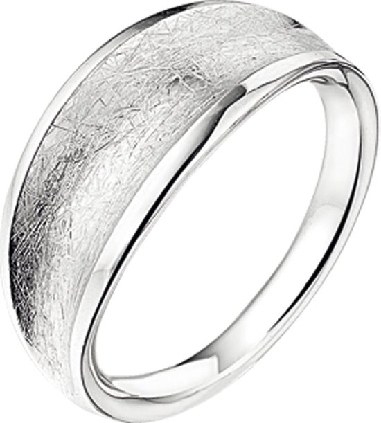 The Jewelry Collection Ring Gescratcht - Zilver