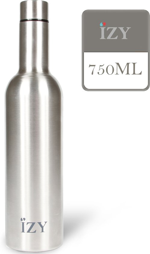 IZY drinkfles / thermosfles - 750 ml - Chrome Silver