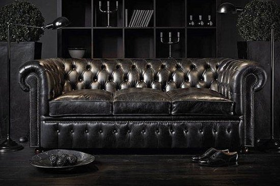 Chesterfield Original Brighton 3+1-zits Modern Zwart