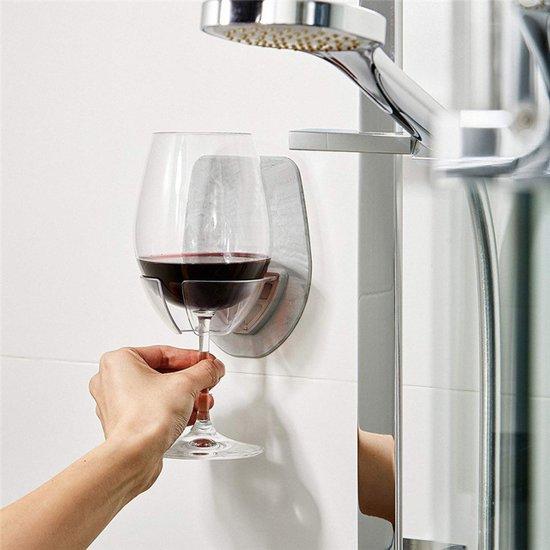 Bad Voor Onder De Douche.Wijnglas Houder Wijnglas Houder Voor Onder De Douche Of In Bad Grijs