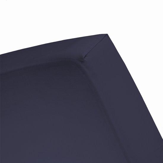 Damai - Hoeslaken (tot 25 cm) - Katoen - 80/90/100 x 200/210 cm - Peacoat