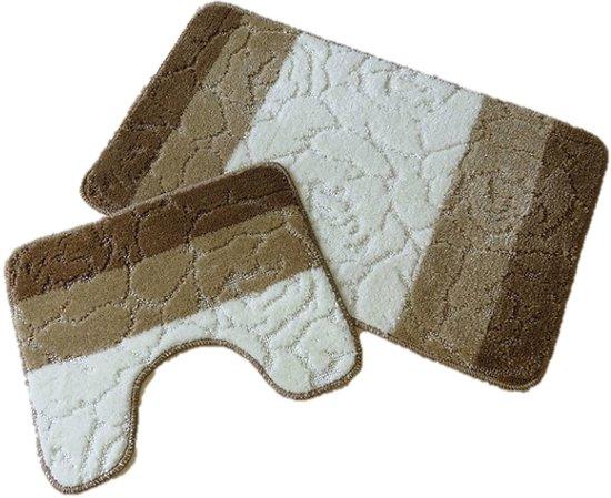 bol.com | badmat set - Badkamer tapijt - Brize 09 60x100cm + 50x60cm ...