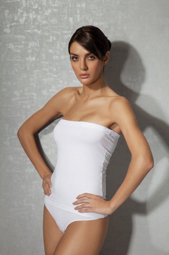 witte strapless top