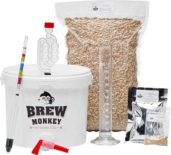 Brew Monkey Bierbrouwpakket - Plus Wit bier - Zelf bier brouwen - Bier brouwen startpakket