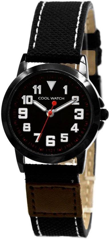 Coolwatch Jort Kids CW.245 - Horloge - Canvas - 30 mm - Zwart