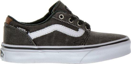 d93e15c9cdd Vans Chapman Stripe Sneakers Junior Sportschoenen - Maat 32 - Unisex -  zwart/grijs/