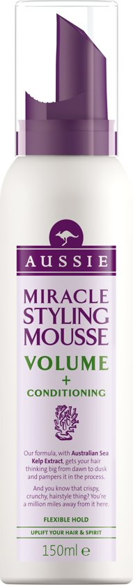 Aussie Miracle Volume & Hydratatie - 150 ml - Haarmousse