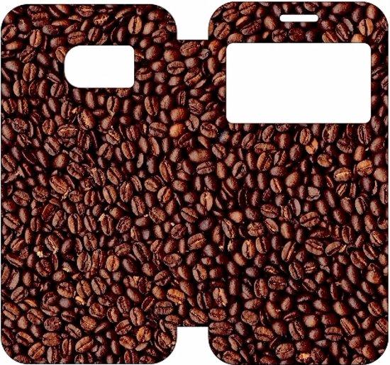 Samsung Galaxy S7 Hoesje Koffiebonen met Venster in De Rijp