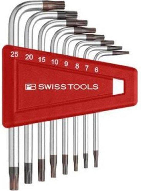 PB Swiss Tools stiftsleutelset Torx TX6-TX25 met boring in punten - PB411.BH6-25