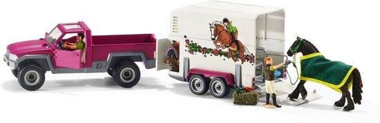 Schleich - Pick-Up met paardenaanhanger - 42346