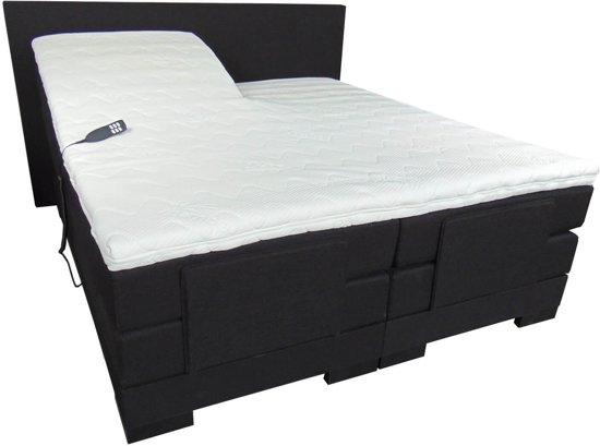 Slaaploods.nl Cool - Elektrische Boxspring inclusief matras - 180x220 cm - Zwart