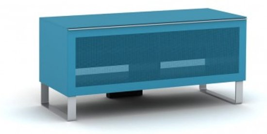 Metalen Tv Kast : Bol elmob exclusive small tv meubel blauw hout metaal glas
