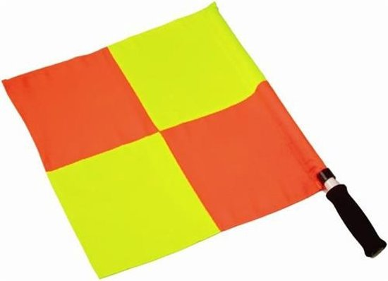 Uefa Grensrechtervlag Set Geel / Oranje Geblokt 2 Stuks