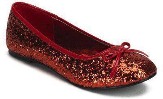 Rode ballerina schoenen met glitters 40
