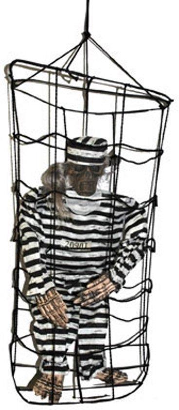 """""""Gevangene in kooi ophangdecoratie - Feestdecoratievoorwerp - One size"""""""