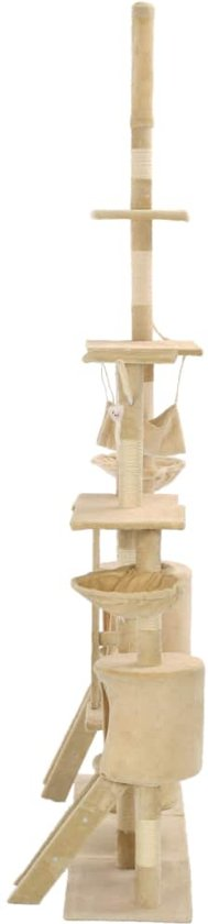 vidaXL Kattenkrabpaal met sisal krabpalen 230-250 cm beige