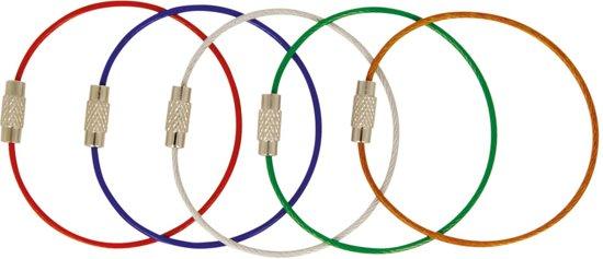 5 verschillende soorten kleuren stainless steel sleutelringen | Sleutelringen | Gekleurde Sleutelring | Sleutelhanger | Sleutelhangers