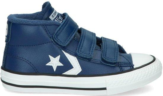 dd1bcdc510a bol.com | Converse Jongens Sneakers Star Player 3v Mid - Blauw - Maat 34