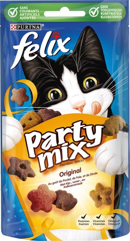 FELIX Snack Party Mix - Original - Kattensnack - 60 g
