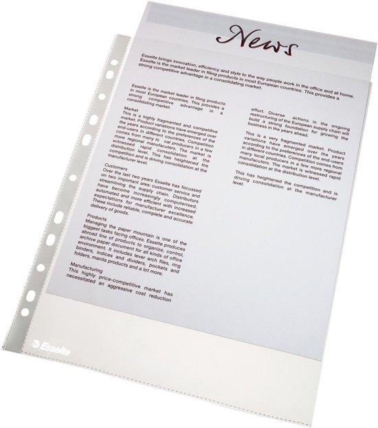 Esselte Showtas - PP - A4 - 100 stuks - Transparant