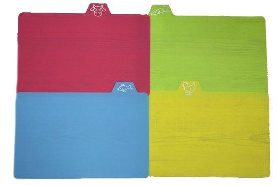 Snijplank - 4 stuks - verschillende kleuren