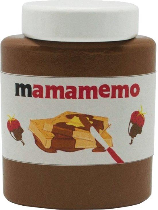 Mama Memo Mama-tella Chocoladepasta Hout 6 Cm Bruin