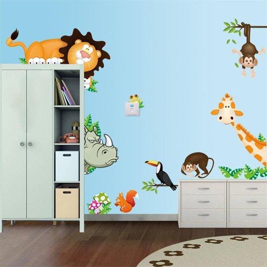 Jungle Decoratie Kinderkamer.Bol Com Jungle Dieren Muurstickers Kinderkamer Babykamer