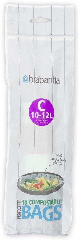Brabantia Composteerbare Afvalzak C - 10-12 Liter (10 stuks)