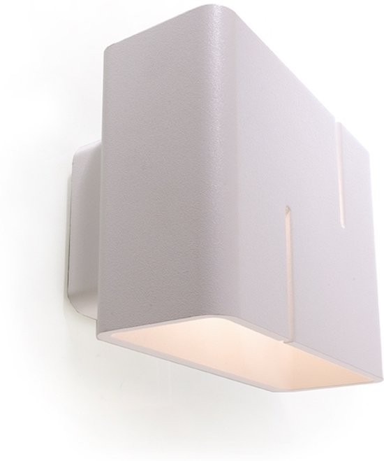 bol.com | Zoomoi Slod wandlamp woonkamer wit | geschikt voor LED ...