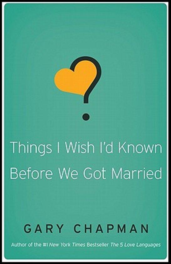 Boek cover Things I Wish Id Known Before We Got Married van Gary Chapman (Paperback)