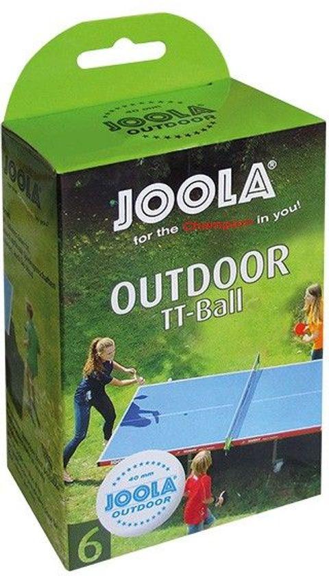 Joola Tafeltennisballen voor Buiten Set 6 stuks Outdoor Verzwaard TT-Ball 40 MM