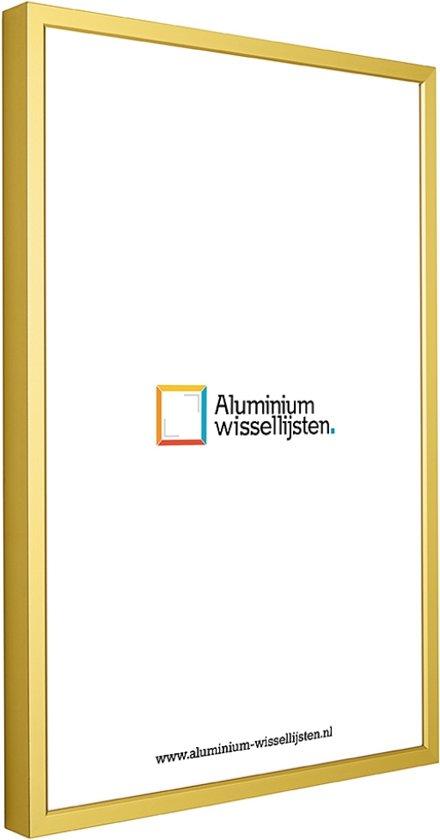 Aluminium Wissellijst 45 x 60 Mat Goud - Ontspiegeld Glas - Professional