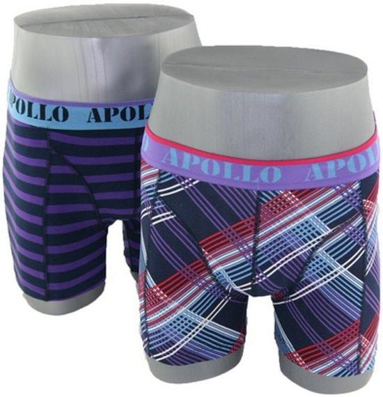 36b8a2a9463 bol.com | Apollo boxershorts lines paars
