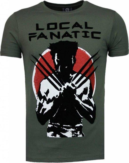 Local Fanatic Wolverine - Flockprint T-shirt - Groen - Maten: XXL