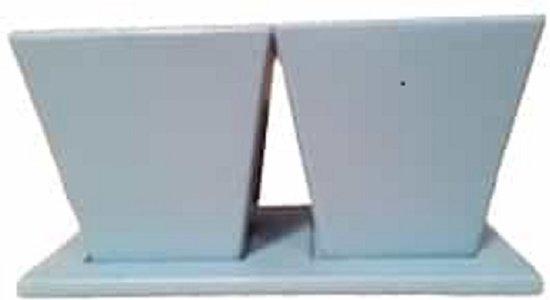 Bloempot Met Licht : Bol.com bloempot op schotel licht blauw 13x13x13cm set met 2