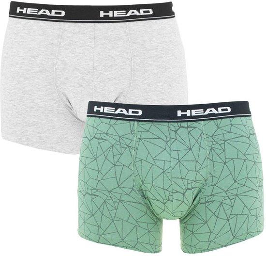 Head - Heren 2-Pack Mesh Print Boxershorts Groen Grijs - L