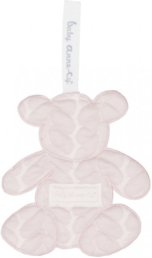Baby Anne-Cy Porto Speendoekje Bear Cable Old Pink