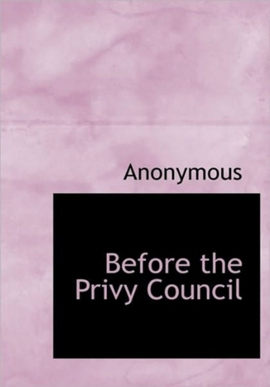 Before the Privy Council
