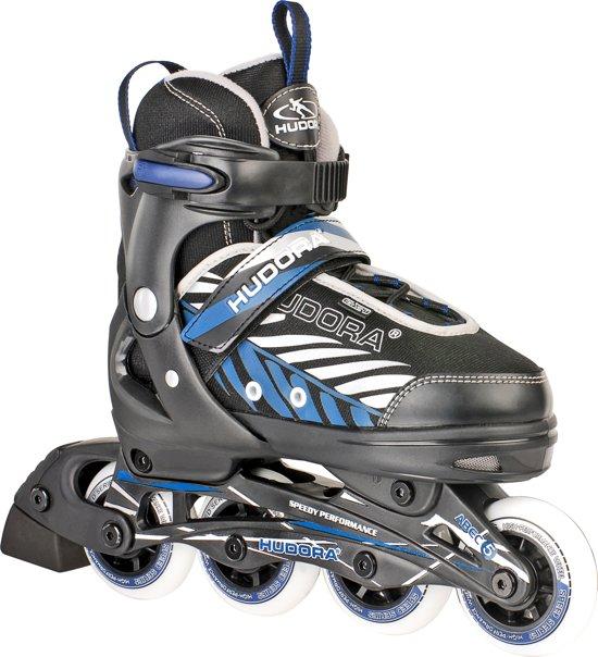 d04bfc2cd91 Hudora Kinder inline skates Leon Blauw - Zwart maat 33-36