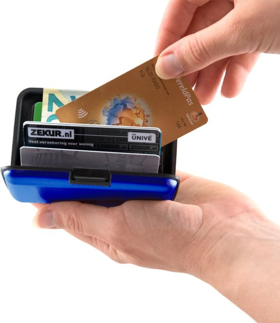 RFID Anti-Skim Aluminium Creditcardhouder - Kaarthouder - Card Protector - Pasjeshouder - Blauw