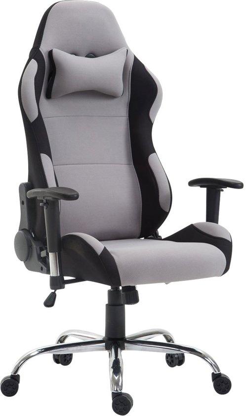 Clp Racing bureaustoel ROSBERG gaming stoel - managerstoel, verstelbare armleuning, stof - grijs,