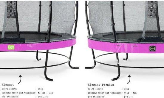EXIT Elegant Premium trampoline ø366cm met veiligheidsnet Economy - paars