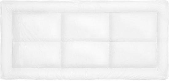 Beliani Yangra Matrasbeschermer Wit Stof 90 x 200 cm